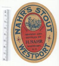 More details for new zealand beer label. nahr, wesport stout