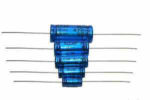 Bipolar Capacitor Alcap 50v-150v 1uf-470uf Sold In Pairs Speaker Crossover Caps