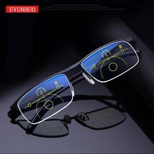 EVUNHUO Lunettes de lecture & lumière bleu progressive Intelligente réglable