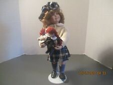 "15"" Danbury Mint Porcelain Scottish Doll With Baby - Karen"