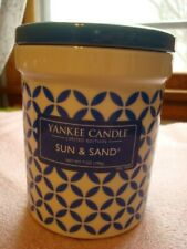 YANKEE CANDLE SUN AND SAND  TUMBLER  CANDLE  7OZ   ~NEW~