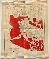 Original Vintage 1918 Arizona Homestead Acts Map