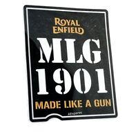 Fits Royal Enfield MLG 1901 Made Like A Gun Battery Box Sticker Emblem AUD