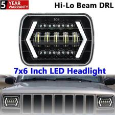 1PC 7x6 Inch LED Headlight Arrow Shape Halo DRL Trun Signal Lamp For Jeep Ford