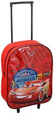 Disney Cars Mcqueen Kids Wheeled Trolley Bag School Travel Cabin Holiday Bag