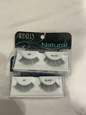 (Lot Of 2) Ardell Natural 117 False Lashes Authentic Ardell Eyelashes Black