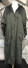 Babette Women's Size S Drop Shoulder Dolman Snap Hooded Raincoat Jacket Coat