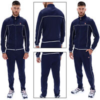 Fila Mens Terry Retro Stripe Tracksuit Zip Up Track Jacket Or Track Joggers