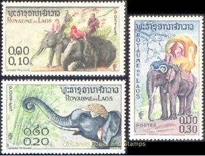 EBS Laos 1958 - Asian Elephant (Elephas maximus) - 74-76 MNH**