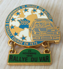 PIN'S RALLYE DU VAR TEAM DIAC MICHELIN RENAULT CLIO WILLIAMS FRANCE 1996