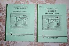 2-Book Library of Service Manuals for Singer Sewing Machines Series 750 756 758