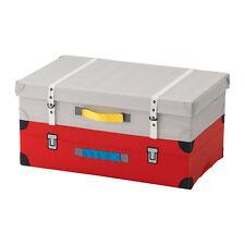 Toy Storage Box Children's Ikea FLYTTBAR Grey / Red