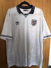 Umbro Inglaterra Italia 90 Gazza Camisa Tamaño XXL