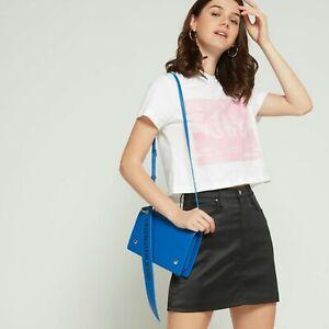 Calvin Klein Shoulder / Crossbody Flap Bag with logo banner, BNWT