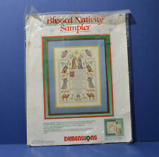 Dimensions BLESSED NATIVITY SAMPLER Counted Cross Stitch Kit 1988 #8357