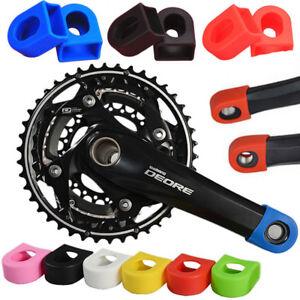 Bicycle Silicon Crank Arm Protector Case Cover Cap Crankset Cycle Mountain Bike