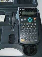 BROTHER P-Touch Label Maker Model PT-1300 with Case. Back panel is loose.