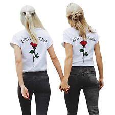 """Best Friends BFF FREUNDINNEN Besties Damen T-Shirt Shirts im Set """"ROSE"""""""