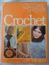 VTG 1972 Golden Hands Crochet Pattern Book Retro Mod Clothing Home Goods