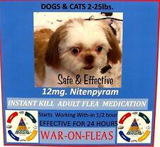 Flea Control Pills Capsules Dogs 12mg 2lbs.-25lbs.12 pack + 1 Free Capsule $9.98