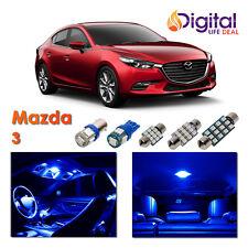 5 x New Interior Blue LED Light Package for 2010 - 2018 Mazda 3 Sedan Hatchback