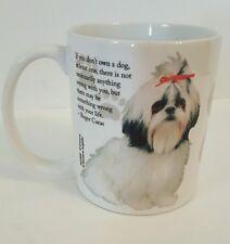 New Shih Tzu Portrait Mug Coffee Cup Roger Caras Saying White Dog