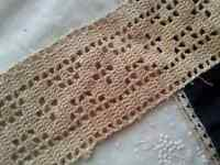 """Antique Lace Trim Wide Edging Doll Vintage Sewing Clothing Crafts DIY  36"""""""