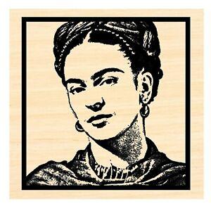 P126 Frida Kahlo rubber stamp