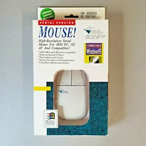 Serial Version Mouse High-Resolution IBM, PC, XT, AT, & Compatibles new open box