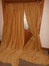 ONE PAIR of Gold Velvet Curtains 100 Inch / 2.54m Drop. Immaculate. BUY IT NOW