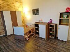 Chambre de Bébé Complet Lot Lit Convertible Armoire Étagères Commode Weißbraun