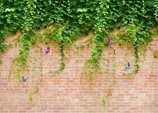 10x8ft Vinyl Spring Brick Wall Ivy Butterflies Studio Background Studio Backdrop
