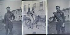3 Vintage Photo Negatives Film Boy Scout In Uniform Badges Bicycle