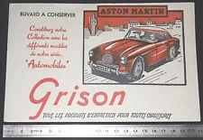 BUVARD 1950 GRISON ENTRETIEN CHAUSSURES AUTOMOBILE AUTO ASTON MARTIN