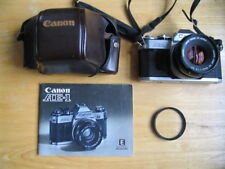 Canon AE-1 35mm Film Camera with Canon 50mm 1:1.8 lens