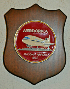 Italian Aerdorica Ancona Airport company plaque crest shield placca Italy