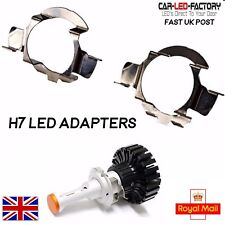 2x H7 LED Headlight Bulb Adapter Holders fit Audi BMW Merc Vauxhall Skoda Nissan
