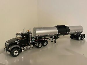 First Gear Mack Granite Tractor Hot Products Tanker Trailer Black/Silver 10-3952