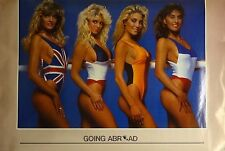 Going Abroad Faces 23x35 80's Pin Up Girl Poster 1986 Bikini Models