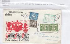 Cover - 6d affranchissement cotisations utilisé comme timbres-pas accepté - 6d frais de port en raison perçue