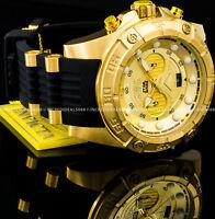 Invicta STAR WARS C-3PO Chronograph 18k Gold Black Strap 52mm SS Men's LE Watch