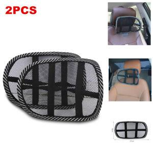 2PCS Car SUV Head Rest Neck Pillow Mat Cushion Support Mesh Breathable Universal