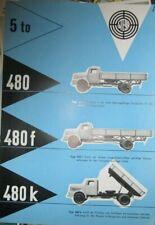 * Steyr 480 f k  9/1957 Lastwagen Prospekt Brochure deutsch