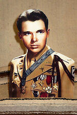 "Lt. Audie Murphy World War 2 Figure Color Tabletop Display Standee 10"" Tall"