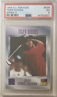 1996 SPORTS ILLUSTRATED SI FOR KIDS TIGER WOODS ROOKIE PSA 5 🔥🔥🔥🐐 RC