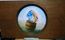 Victorian mahogany mounted Magic lantern slide humour 2 men Evading A tiger  s3