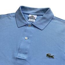 Vintage Camisa Polo Lacoste | Talla 3 | Pequeño S | Pálido Azul Claro Manga Corta