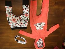 Baby Starters 3-piece Orange Outfit Baby Girls Size 6 Months EUC Adorable Floral