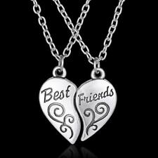 1 Set Best Friends Fashion Silver Heart Pendants and Necklaces