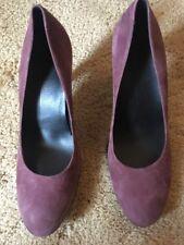 Ecco Sleek Pump Bordeaux Purple Suede Size 40 US 9/9.5